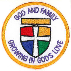 God and Family Badge
